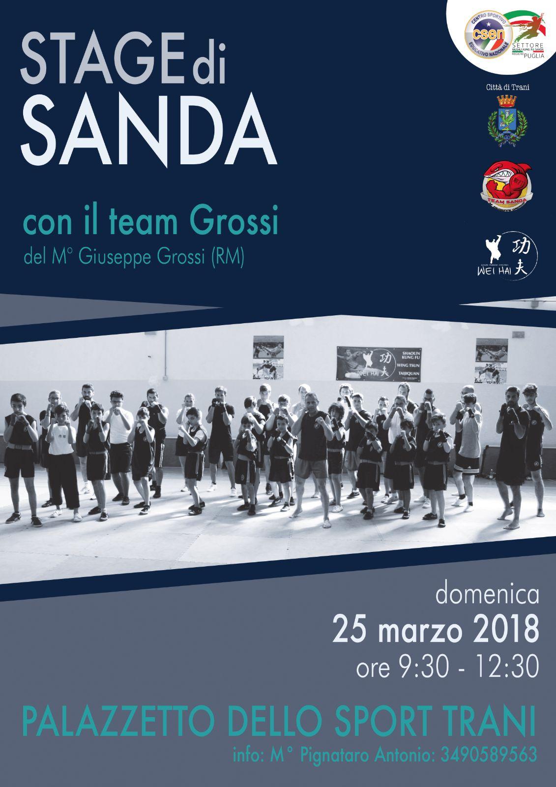 25 marzo 2018 Stage Sanda