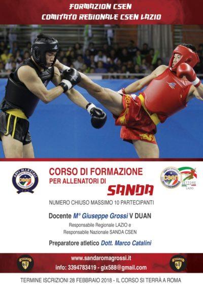 3 MARZO Corso allenatori Sanshou Roma