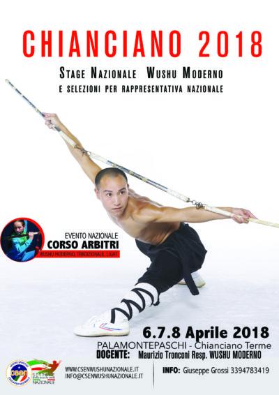 6.7.8 Aprile 2018 Stage Nazionale Wushu Sanda